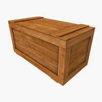 regular wooden crate 3d model