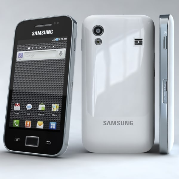 samsung galaxy ace s5830 3d model - Samsung Galaxy Ace S5830 White... by 3dtoss