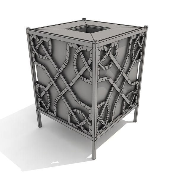 3d trash receptacle celtic - Celtic Trash Receptacle... by Sprocket Monkey