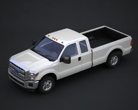 super duty supercab pickup truck 3d model