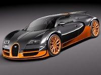 3d bugatti veyron super sport