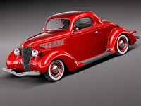 c4d 1936 36 coupe antique