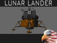 lunar lander apollo 3d obj