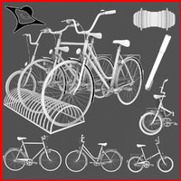typical old bikes 3d obj