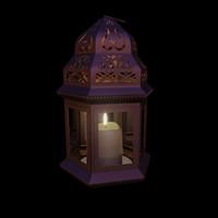 3d moroccan lamp
