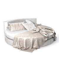 rugiano venus modern contemporary leather croco round bed