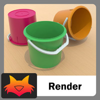 3d model bucket cubeta