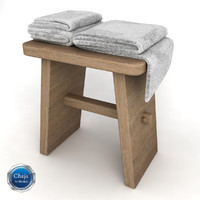 3d towel rack chair