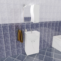 3d model ev bathroom set