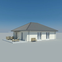 3d photoreal bungalow model