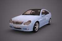 3d mercedes benz c230 sport coupe model