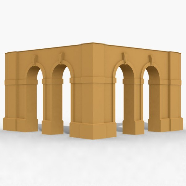 arches corner 3d dxf
