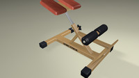 free gym device 3d model