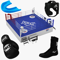 3d model boxing equipment ring