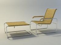 Breuer S35 armchair and stool (2)