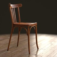 french bistro chair wood 3d max
