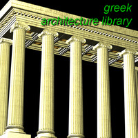 3d model greek architecture columns