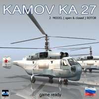 Kamov Ka-27 Soviet helicopter two model