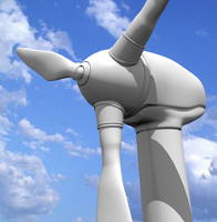 realistic wind turbine 3ds