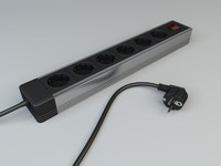 3d power strip model