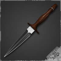 spear point dagger 3d 3ds