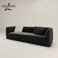 3ds max fashion supersoft sofa