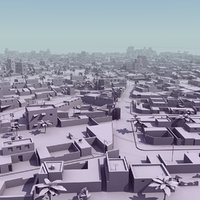 3d arab city suburb mass model