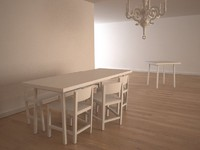 moooi shaker dining set 3d model