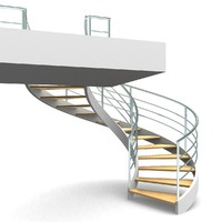 3d spiral staircases step