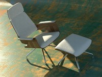 thonet lounge chair 3d model