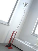 3d model castiglioni toio lamp flos