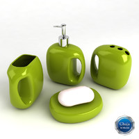 3d model bathroom accessories bath