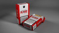 pack containing cigarettes 3d obj