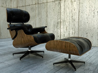 3d model eames lounge chair ottoman