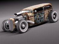 tudor 1929 ratrod rat 3d model