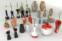 3d 3ds 26 vases