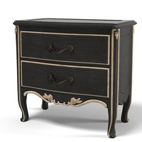 Savio Firmino 3054 Classic Nightstand Carved Baroque