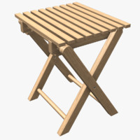 foldable chair 3d obj