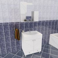 plm bathroom set 3d model