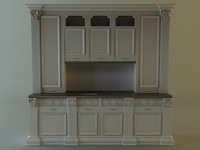 3d kitchen cabinet