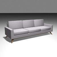 free 3ds model basic couch
