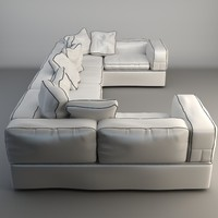 white sofa 3d 3ds