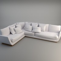 3d model corner sofa