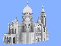 basilica sacre-cur paris 3d max