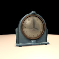 3d art deco clock model