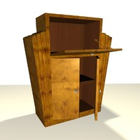 art deco cabinet 3d 3ds