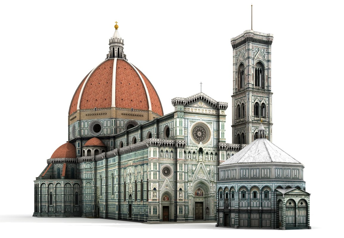 Santa maria cathedral florence c4d for Domon florence