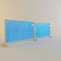 metal fence construction 3d x