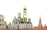 3d moscow kremlin russia