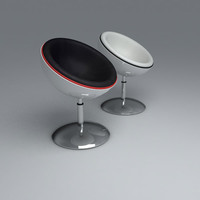 3d model retro pod chair